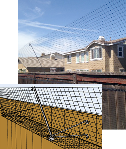cat fence netting